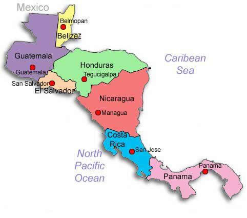 S Geografia  A Amrica Central